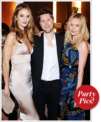 Rosie Huntington-Whiteley, Christoper Bailey, Kate Bosworth