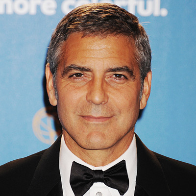 George Clooney, transformation, shaving, celebrity hair