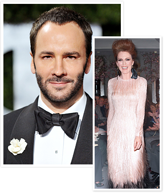 Tom Ford and Julianne Moore Spring 2011 Fashion Show