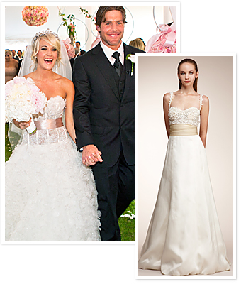 Carrie Underwood's Monique Luhllier wedding dress