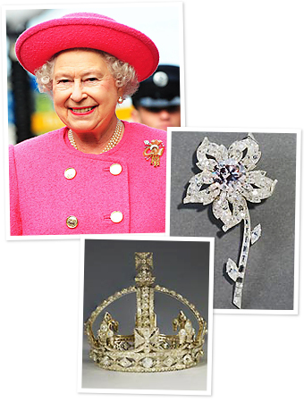 Queen Elizabeth Diamonds On Display