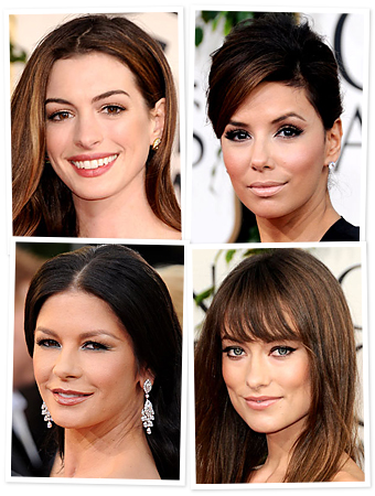 Golden Globes, Anne Hathaway, Eva Longoria, Olivia Wilde, Catherine Zeta Jones