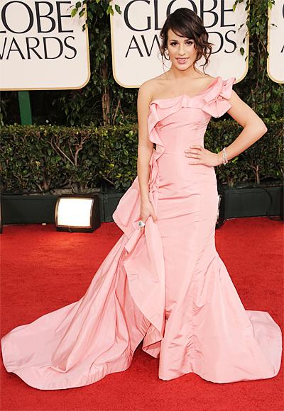 Lea Michele - Oscar de la Renta - Lorraine Schwartz - Golden Globes 2011