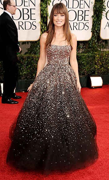 Golden Globes - Olivia Wilde - Marchesa