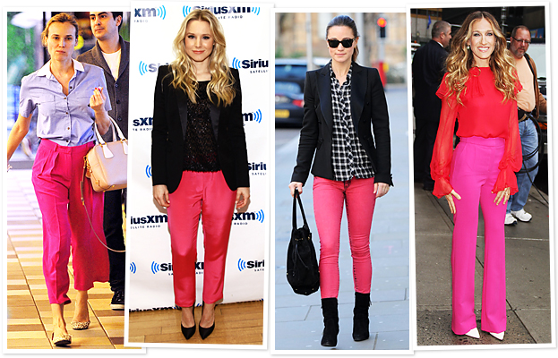 Pink Pants on Celebrities