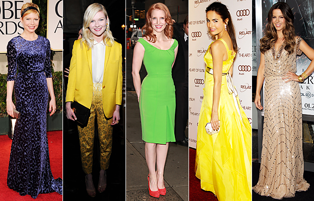 Michelle Williams, Kirsten Dunst, Jessica Chastain, Camilla Belle, Kate Beckinsale