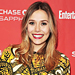 Found It! Elizabeth Olsen's Printed Sweater and Bronze Cords