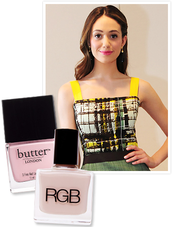 Emmy Rossum - Pastel Nails - Celebrity Nail Trends