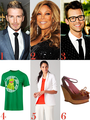 David Beckham, Wendy Williams, Brad Goreski