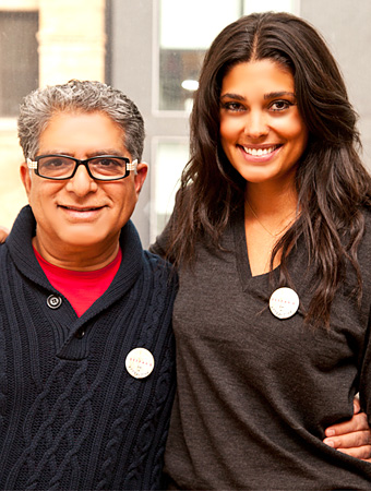 Rachel Roy and Deepak