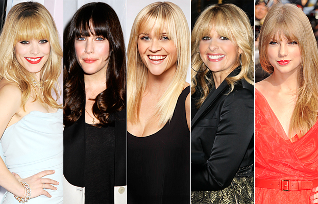 New Celebrity Hairstyles - Bangs