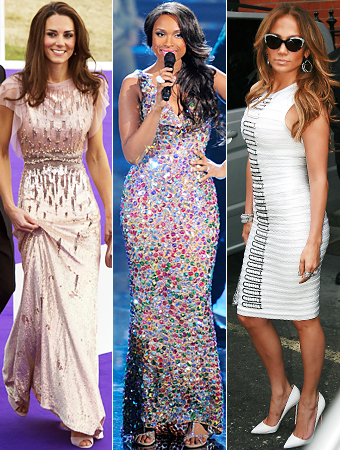 Kate Middleton, Jennifer Hudson, Jennifer Lopez