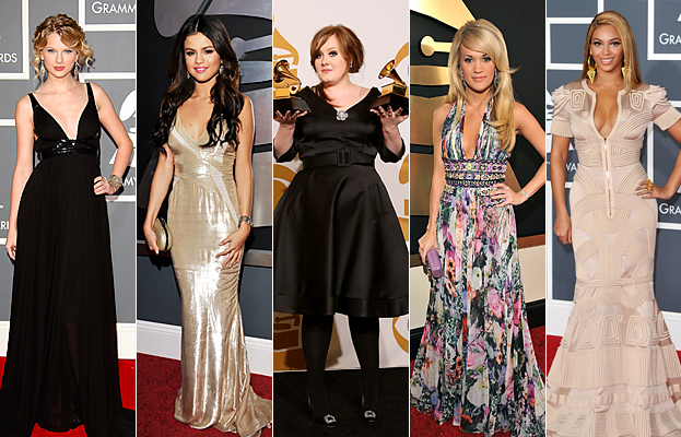 Taylor Swift, Selena Gomez, Adele, Carrie Underwood, Beyonce