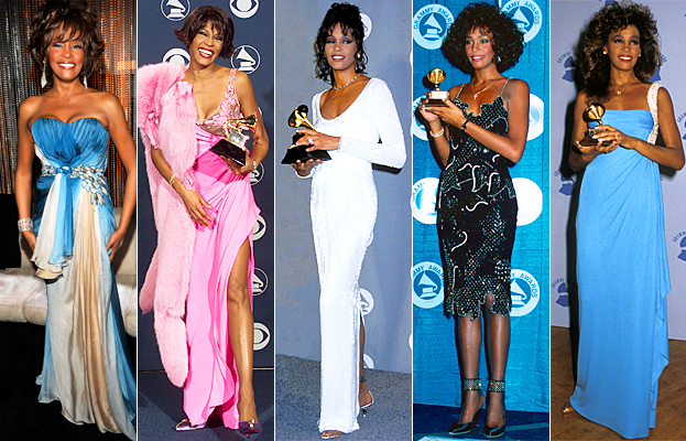 Whitney Houston Best Grammy Looks