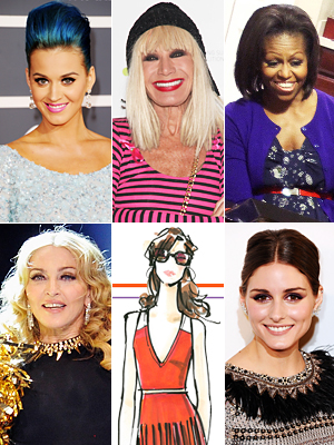 Katy Perry, Betsey Johnson, Michelle Obamas