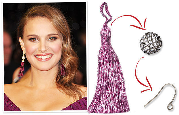 Natalie Portman Oscars Earrings