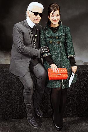 Lily Allen Karl Lagerfeld