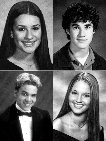 Glee yearbook photos