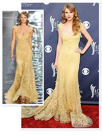 Taylor Swift Yellow Dress Elie Saab