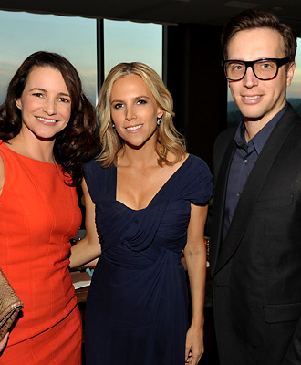 Kristin Davis, Tory Burch, and Ariel Foxman