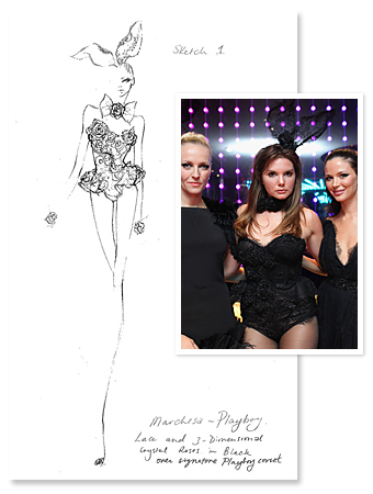 Marchesa Playboy Bunny Costume