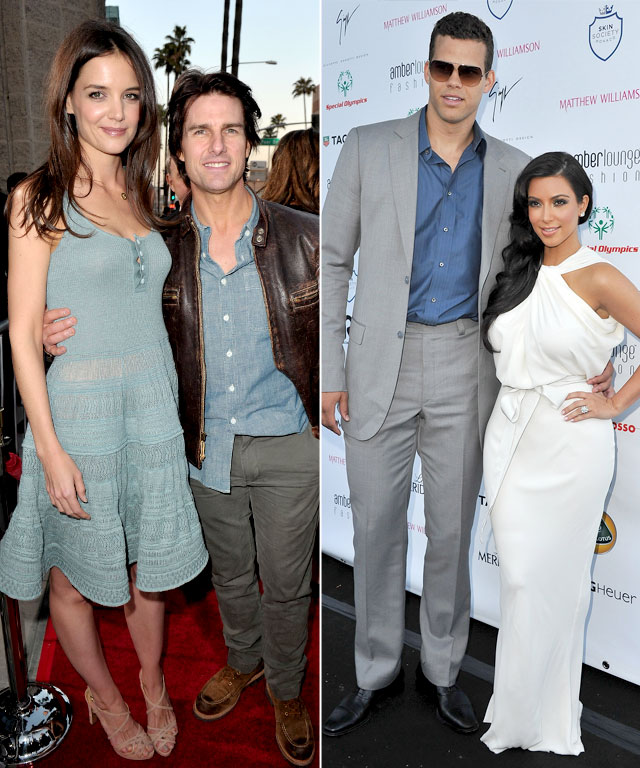 Katie Holmes, Tom Cruise, Kim Kardashian, Kris Humphries