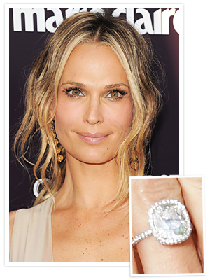 Molly Sims Engagement Ring CushionCut Engagement Rings Scott Stuber