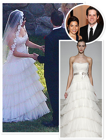 America Ferrera, Wedding