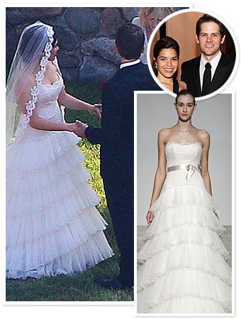 America Ferrera, Wedding