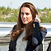 Duchess Catherine's Tour Outfits: White Ruffle Blouse and Navy Blazer Details!