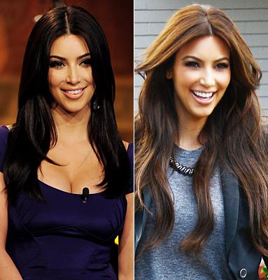 Kim Kardashian\'s Lighter Brown Hair! | My Divine Obsession