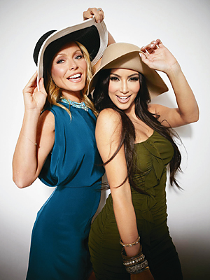 Kelly Ripa and Kim Kardashian