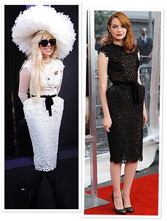 Emma Stone Lady Gaga