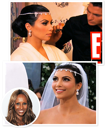 Kim Kardashian Wedding Hair -- Iman