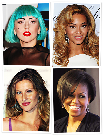 Lady Gaga, Beyonce, Gisele, Michelle Obama