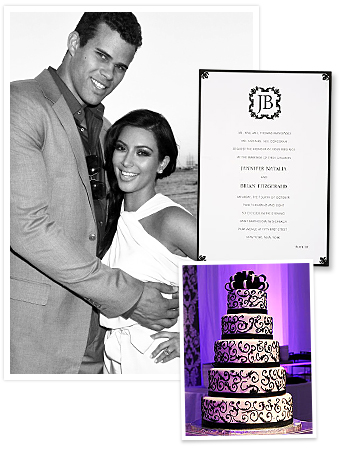Kim Kardashian Wedding Black and White Theme Ideas InStylecom