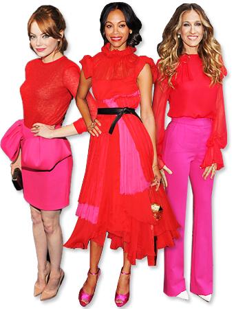 Emma Stone, Zoe Saldana, Sarah Jessica Parker