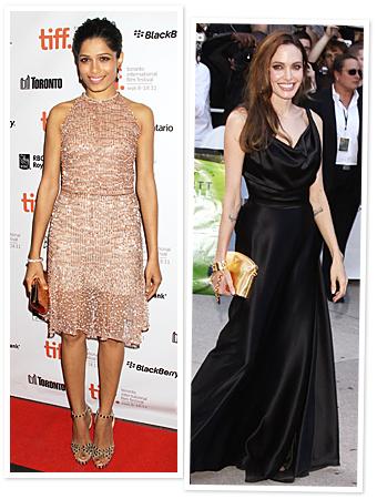 Freida Pinto, Angelina Jolie, Toronto Film Festival