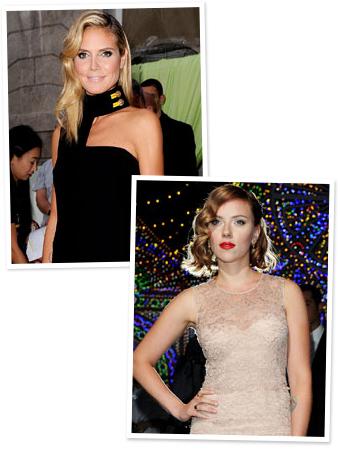 Heidi Klum, Scarlett Johansson