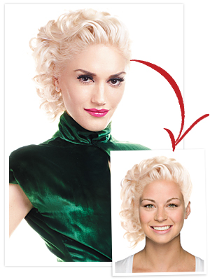 Gwen Stefani, Hair Try On Tool