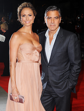 George Clooney and Stacey Kiebler
