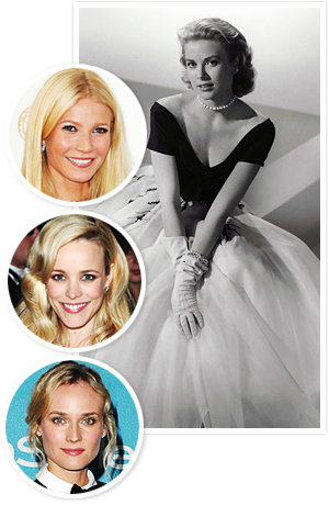Grace Kelly, Gwyneth Paltrow, Rachel McAdams, Diane Kruger