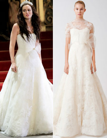 Confirmed blair waldorf 39 s wedding dress designer is vera for Wedding dress blair waldorf