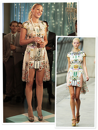 Gossip Girl, Blake Lively, Mary Katrantzou