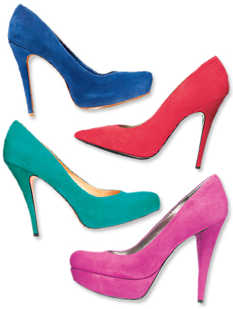 Saturated Suede Heels