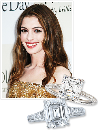 Anne Hathaway Engaged, Engagement Ring