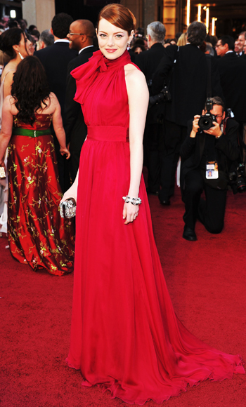 Emma Stone - Oscars Trends - Red