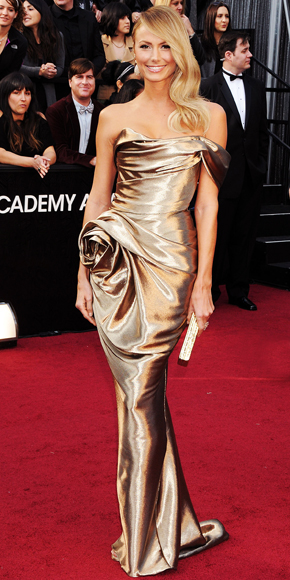Stacy Keibler - Marchesa - Gold - Oscar Trends