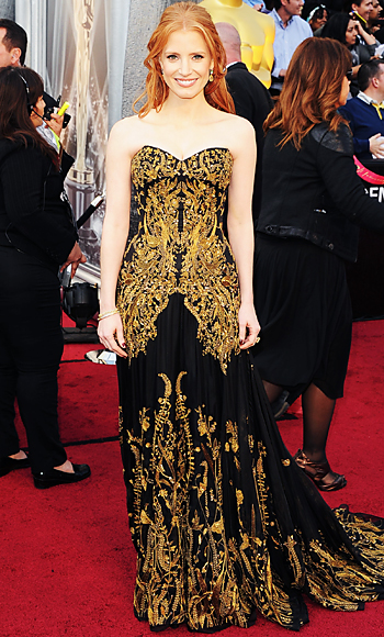 022612 jessica chastain 350 TBF is Live Blogging the Oscars Red Carpet!