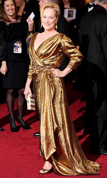 Meryl Streep - Lanvin - Oscar Trends - Gold